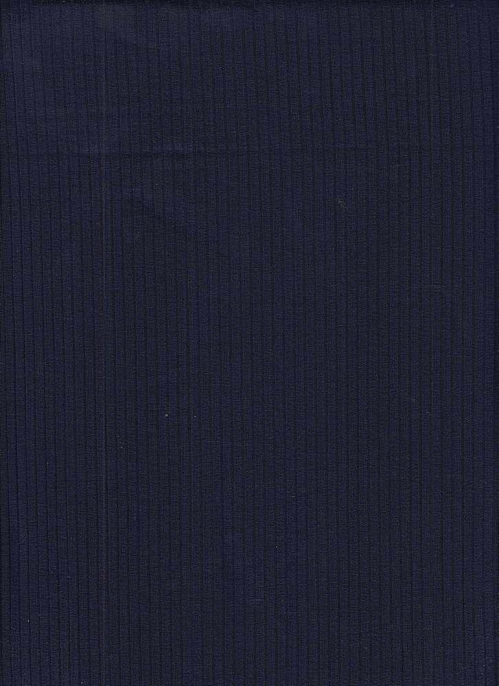 RIB-052 / NAVY / 95% Viscose 5% Spn 5x2 Rib