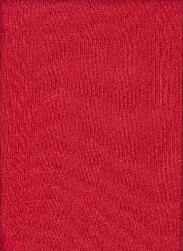 RIB-052 / RED / 95% Viscose 5% Spn 5x2 Rib