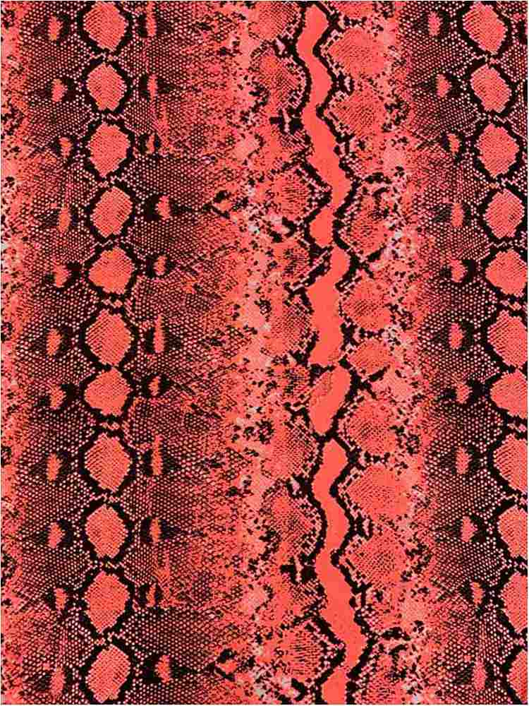 CTP-1029 / NEON CORAL / 90% Poly 10% Spn Power Mesh Snake Design