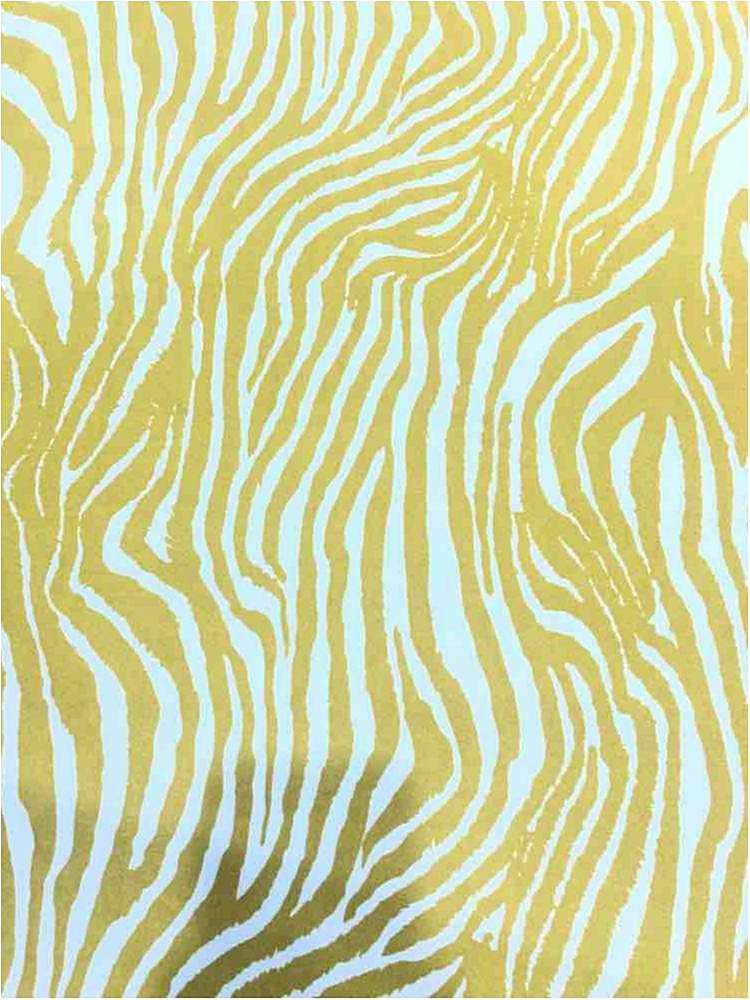 CTP-1032 / LIME / 95% Poly 5% Spn Techno Crepe Zebra Print