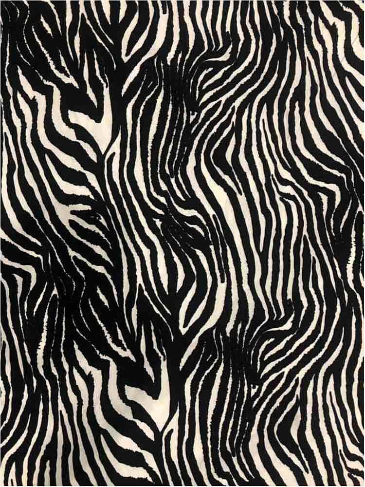 CTP-1033 / BLACK/WHITE / 80% Poly 20% Spn Zebra Print