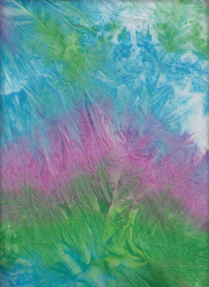 CTP-1034 / GRN/PURPLE/BLUE / 95% Poly 5% Spn Dty Brush Tie Dye