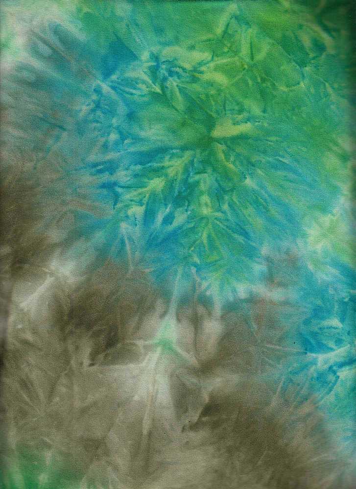 CTP-1034 / KELLY/AQUA/OLIV / 95% Poly 5% Spn Dty Brush Tie Dye