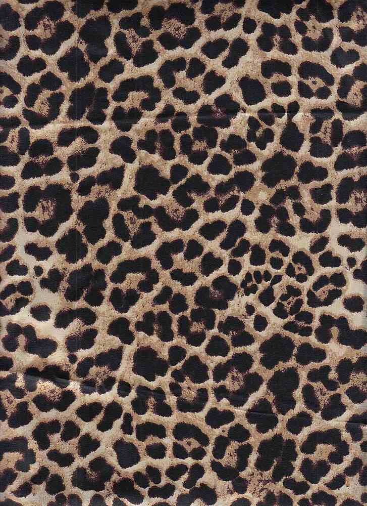 CTP-1016 SATIN / TAUPE / 97% Poly 3% Spn Leopard Print