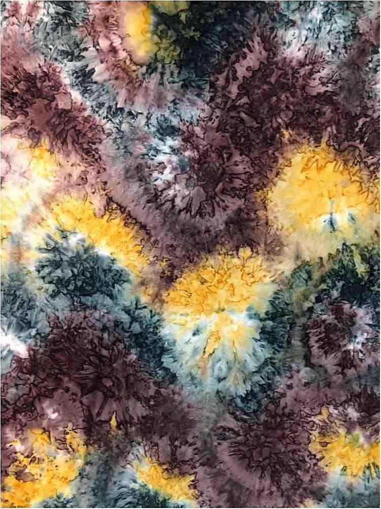 CTP-1040 / MUSTARD/MARSALA / 95/5% Poly Span Brushed DTY Tie Dye