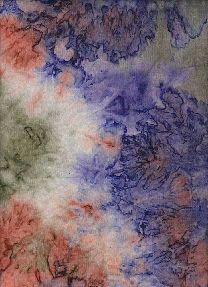 CTP-1040 / ORG/OLIVE/PURP / 95/5% Poly Span Brushed DTY Tie Dye