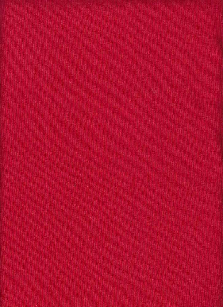 SP-2601 / RED / 93%Poly 7%Span Brushed Dty 4X2 Rib
