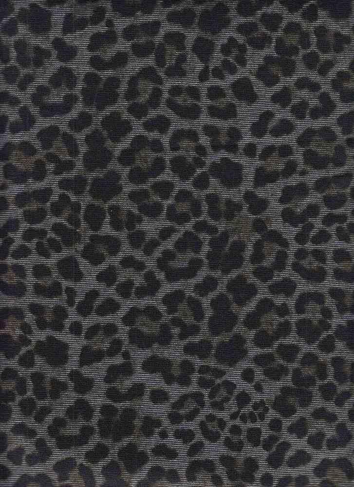 CTP-1043 / SILVER / 95% Poly 5% Span Ponti Leopard Paper Print