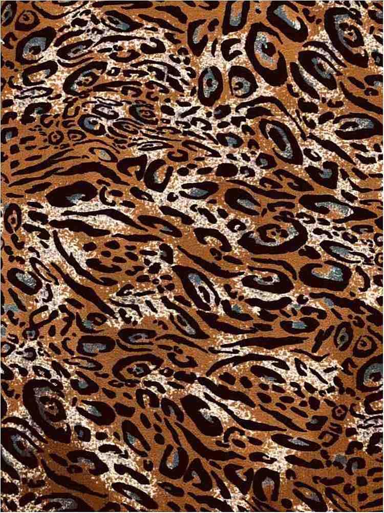 CTP-1045 / GINGER / 98% Poly 2% Spn Leopard Print