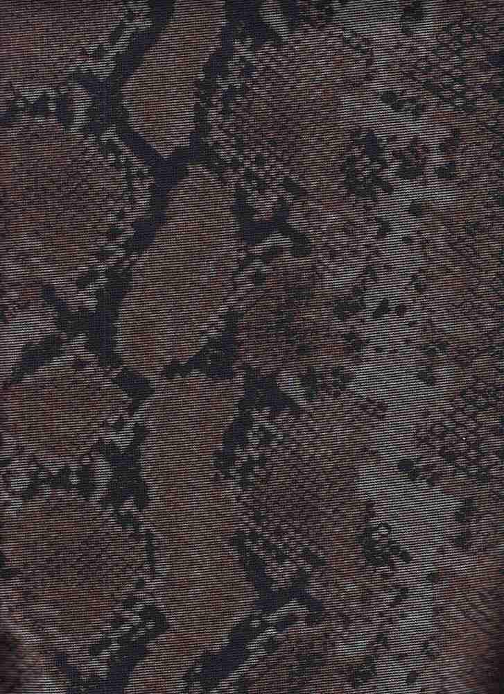 CTP-1046 / BRONZE / 95% Poly 5% Spn Ponti Snake Paper Print
