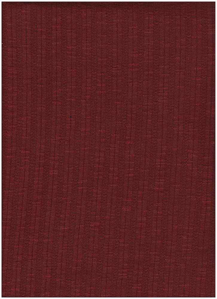 PC-3105 / WINE / 60% Poly 35% Cotton 5% Spn Jaquard Rib