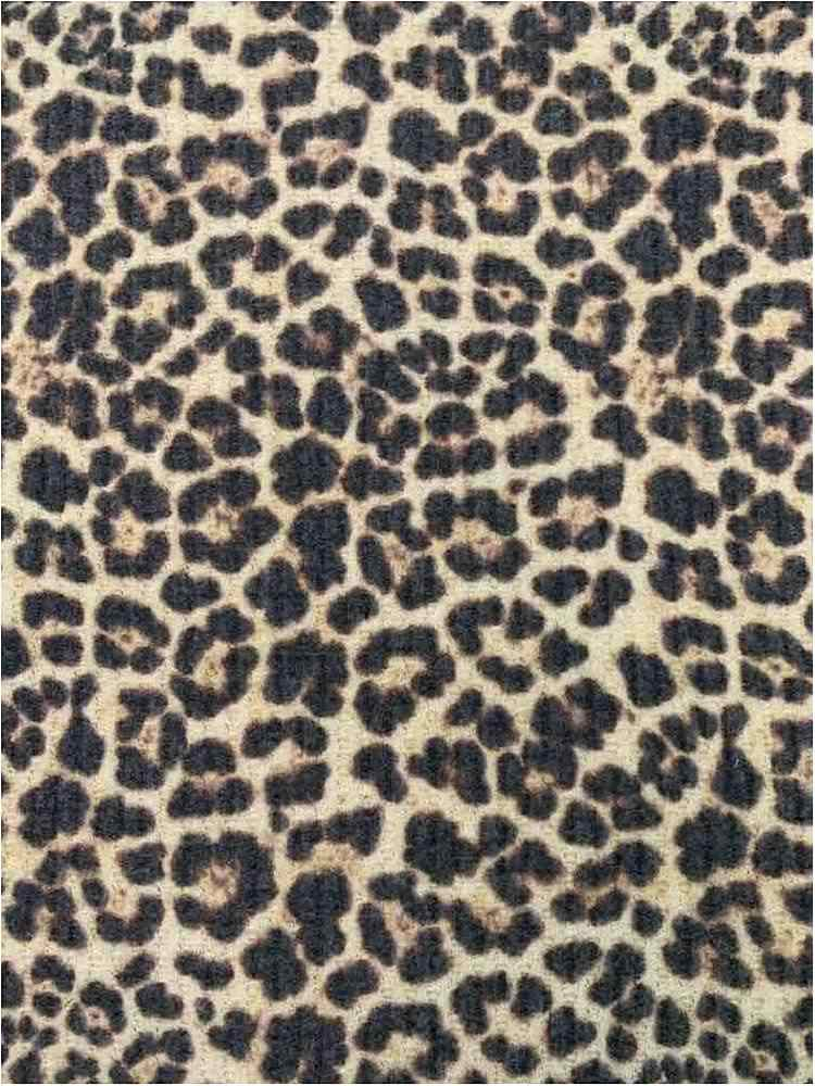 CTP-1016 WFL B. / TAUPE / 63%P.33%R. 4%S. Waffle Brushed Leopard Print