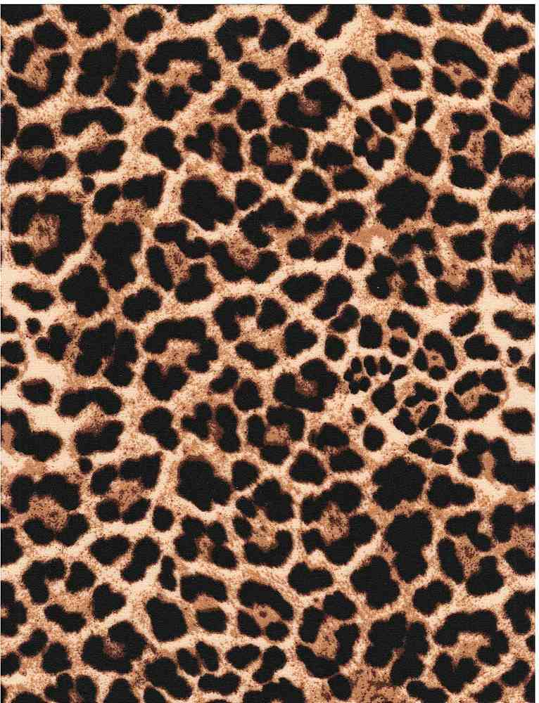 CTP-1016 TC / TAUPE / 95%Poly 5% Span Techno Crepe Leopard