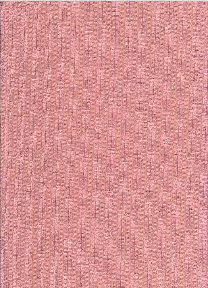 PC-3105 / BLUSH / 60% Poly 35% Cotton 5% Spn Jaquard Rib