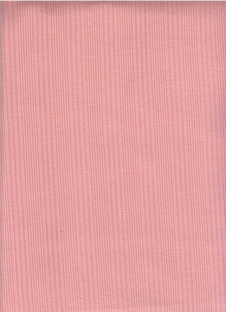 PC-3106 / BLUSH / 93% Cotton 7% Span Varigated Rib