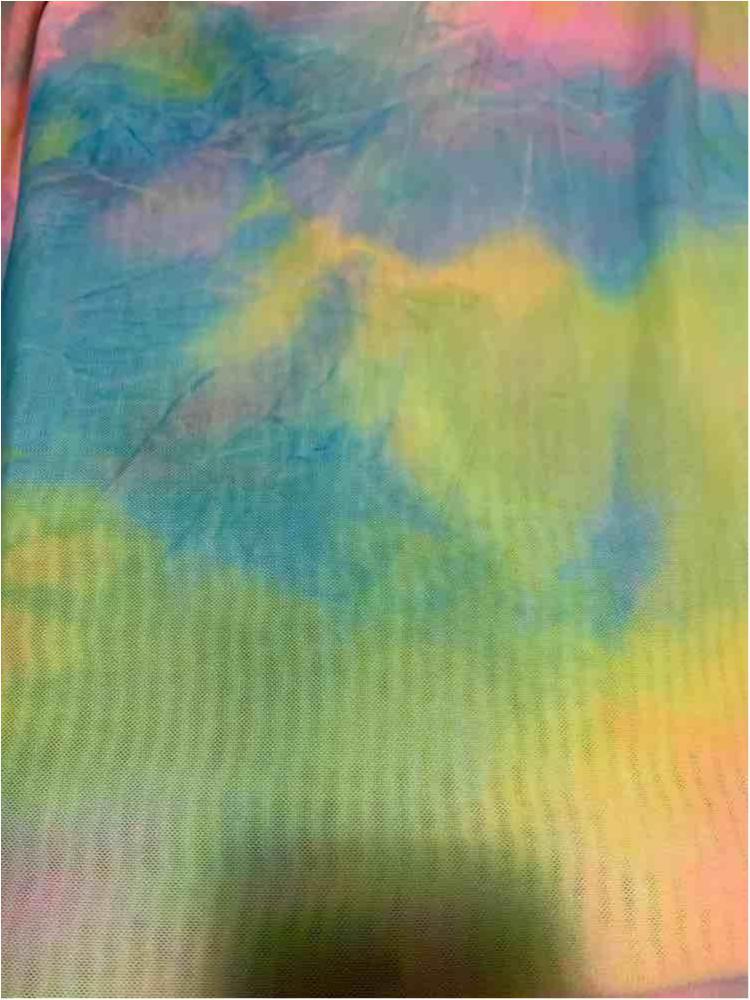 TDM-1059 / AQUA / 95% Poly 5% Span Power Mesh Tie Dye