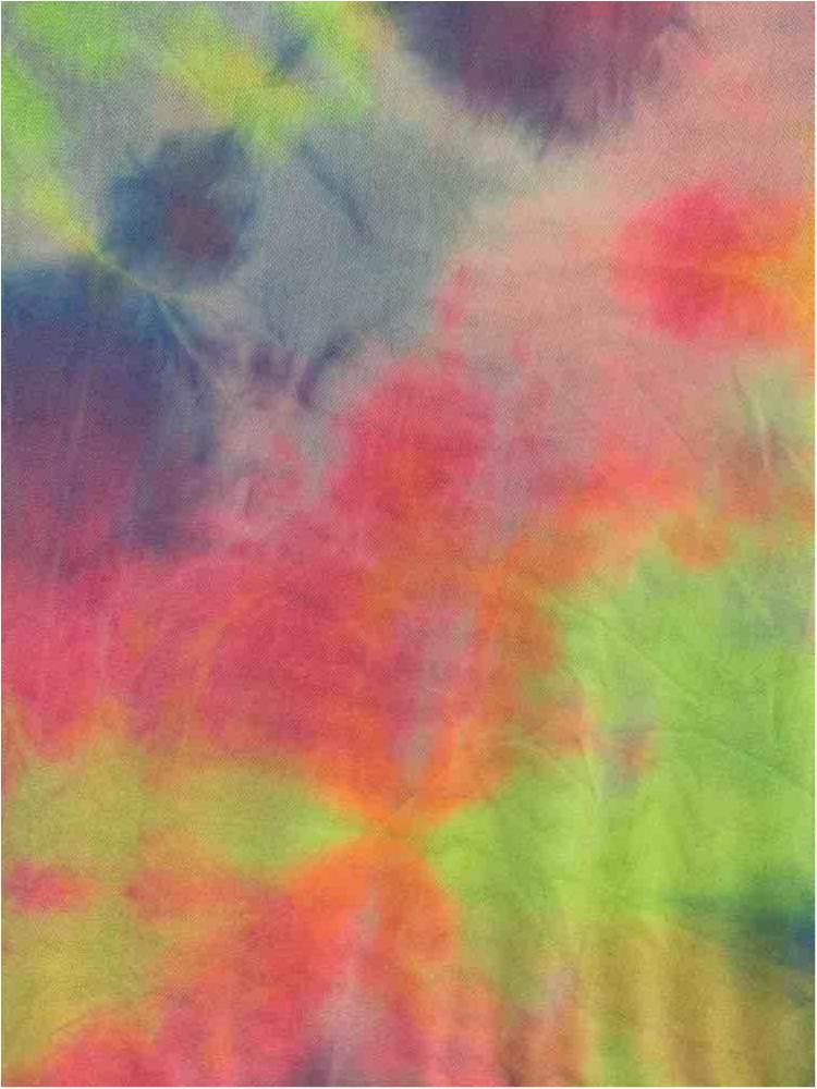 TDM-1059 / LIME / 95% Poly 5% Span Power Mesh Tie Dye