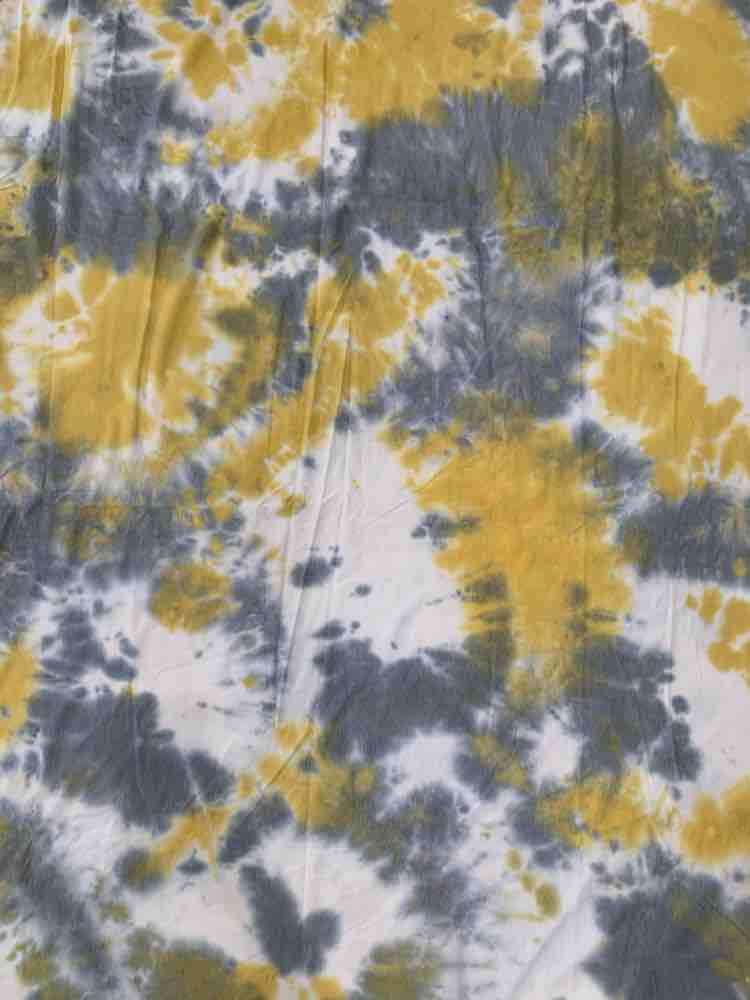 CTD-1062 FT / MUSTARD / 70%Poly 26%Rayon 4%Span Tie Dye French Terry