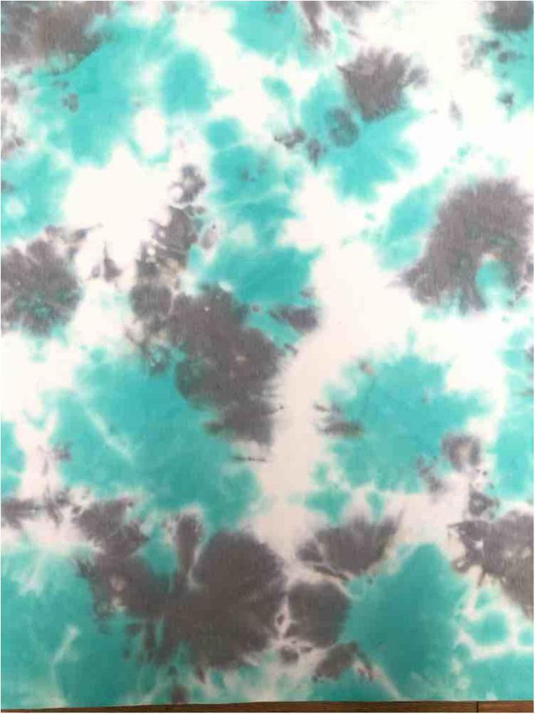 CTD-1062 FT / MINT / 70%Poly 26%Rayon 4%Span Tie Dye French Terry