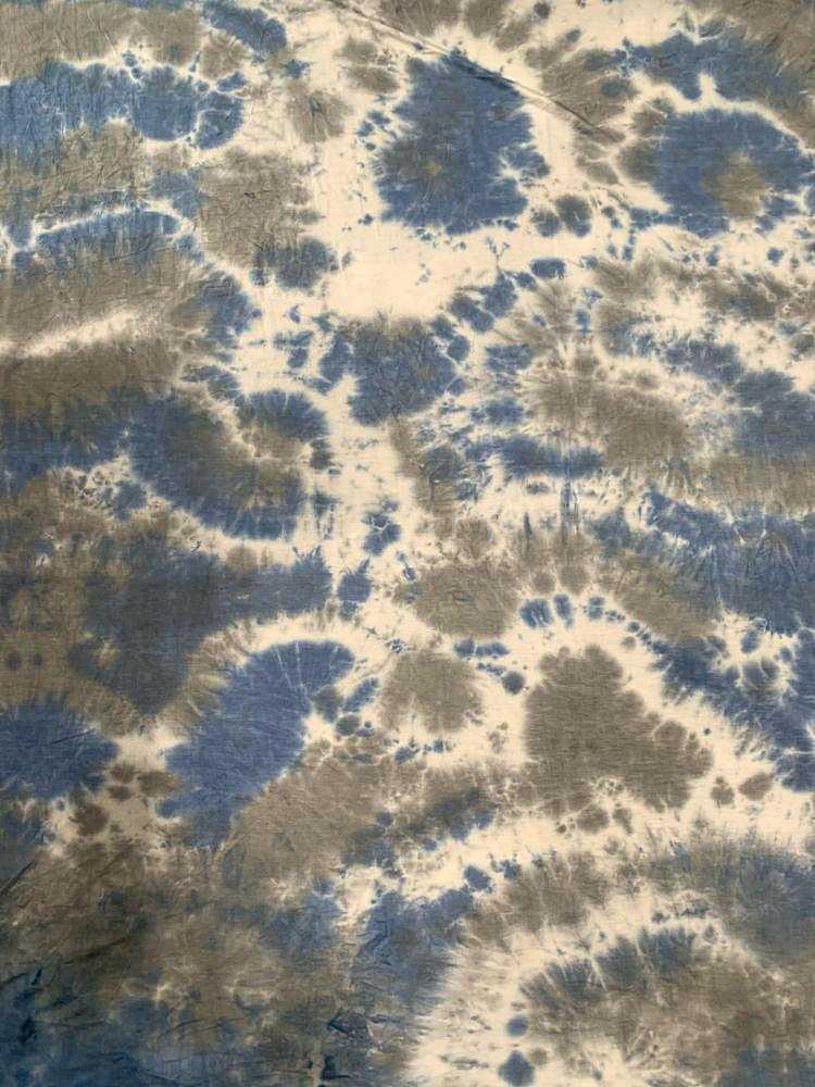CTD-1062 RNJ / BLUE / 95% Rayon 5% Spn Tie Dye