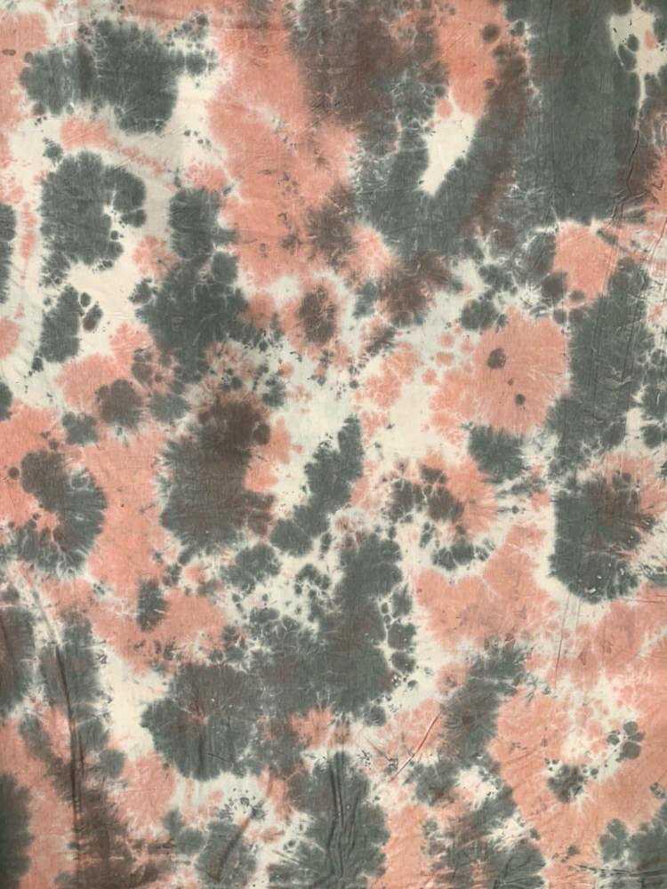 CTD-1062 RNJ / PEACH / 95% Rayon 5% Spn Tie Dye