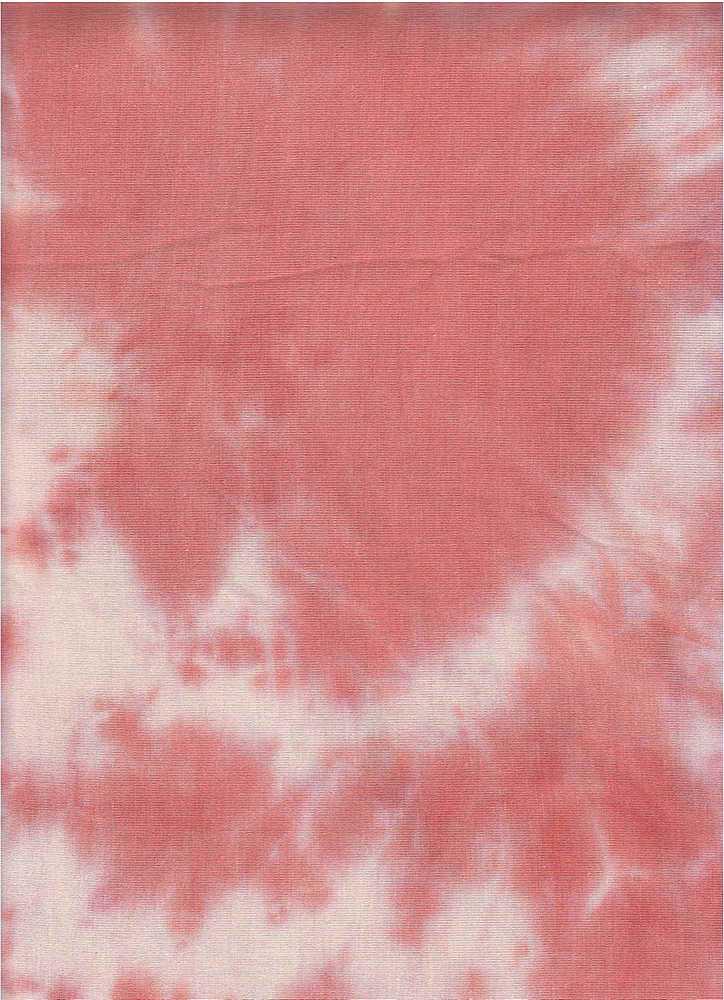 CTD-1064 RNJ / PEACH / 95% Rayon 5% Spn Tie Dye