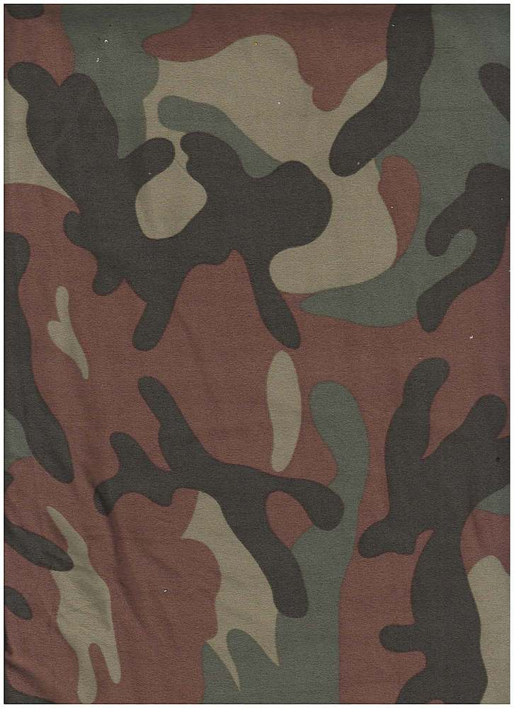 CTP-1069 DTY B / OLIVE / 95% Poly 5% Span DTY Brushed Camo