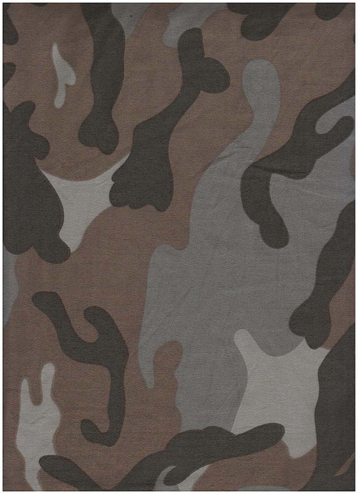 CTP-1069 DTY B / GRAY / 95% Poly 5% Span DTY Brushed Camo