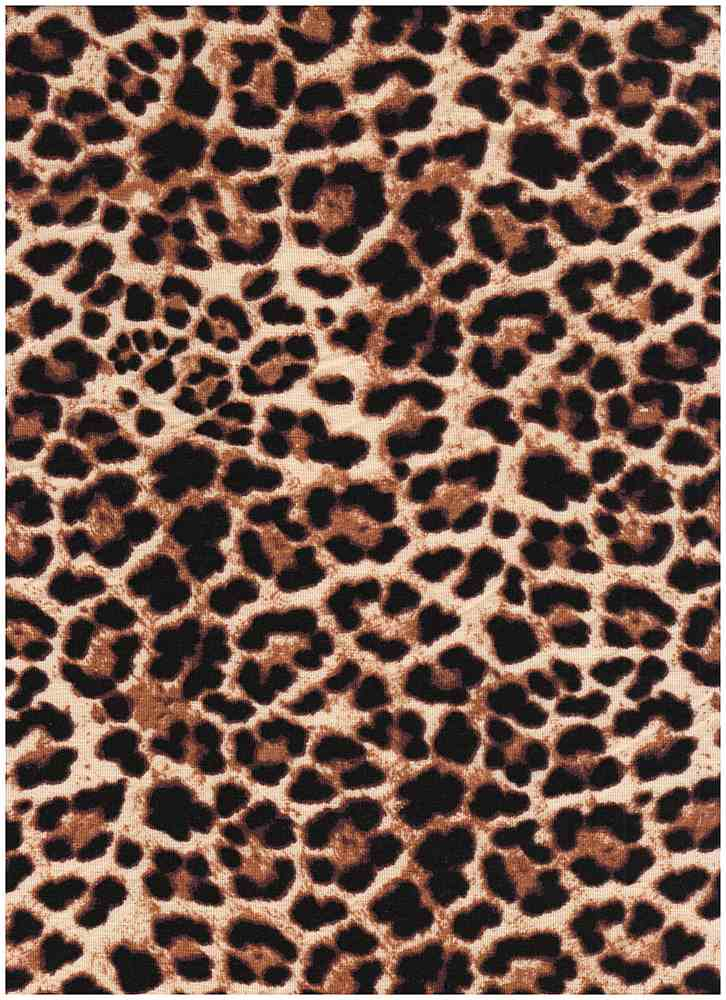 CTP-1016 RS / TAUPE / 95% Rayon 5% SPN Leopard Print