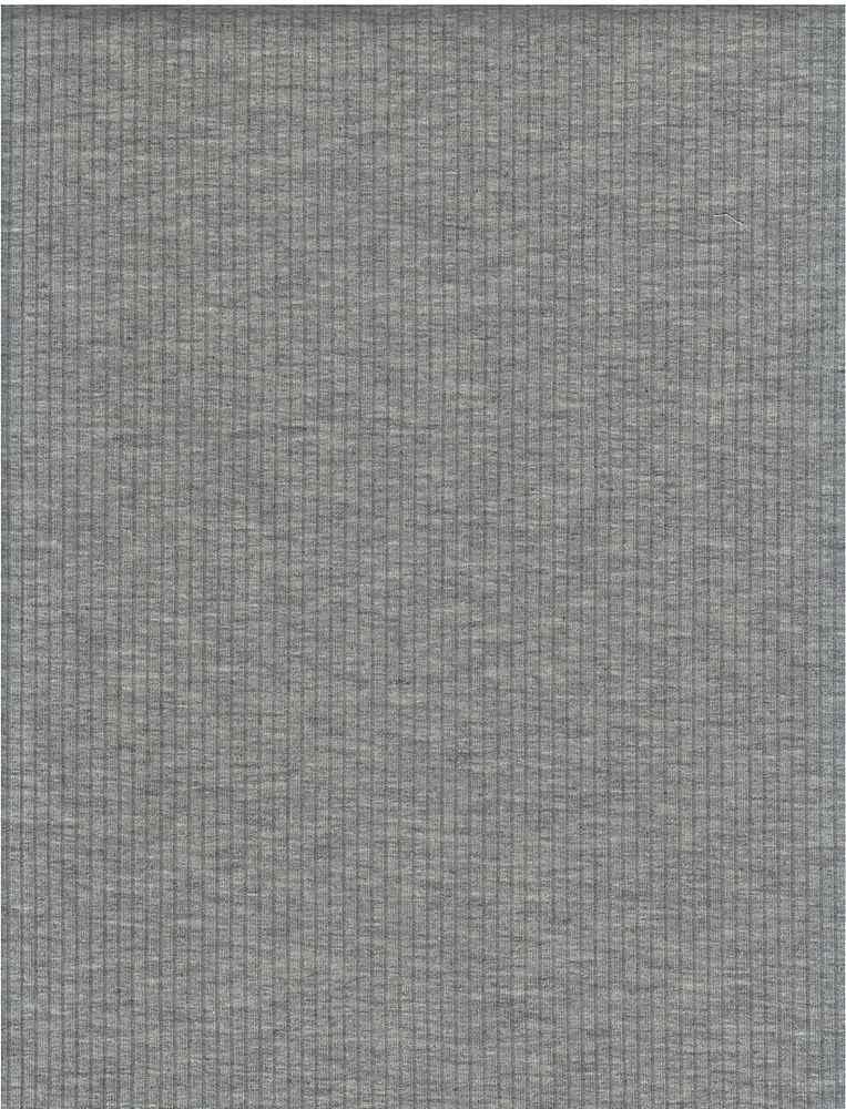 RIB-1863 / H. GRAY / 84% Poly 9% Rayon 7% Spandex 260 GSM 4X2 Rib