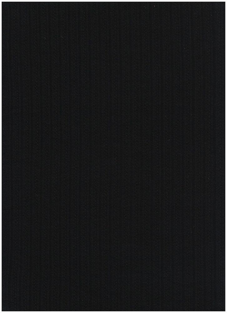 RNJ-2031 / BLACK / 94% Vortex Rayon 6% Span Jaquard Rib