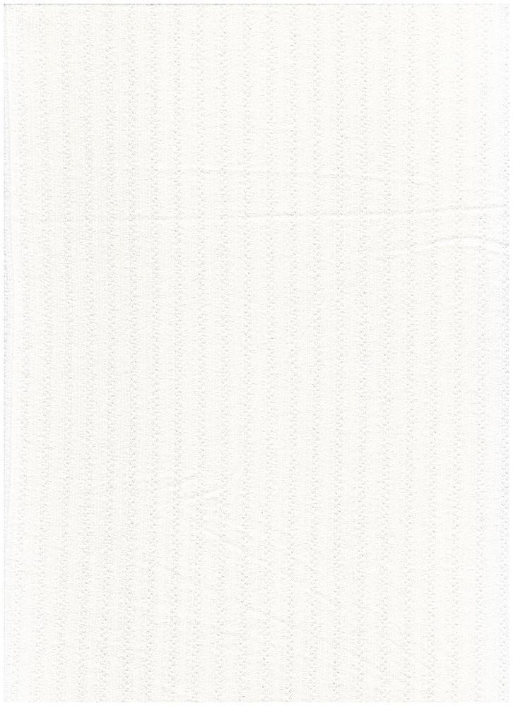 RNJ-2031 / IVORY / 94% Vortex Rayon 6% Span Jaquard Rib