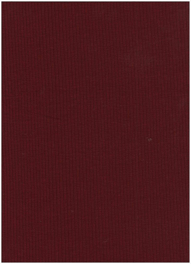 RIB-1863 / GARNET / 84% Poly 9% Rayon 7% Spandex 260 GSM 4X2 Rib