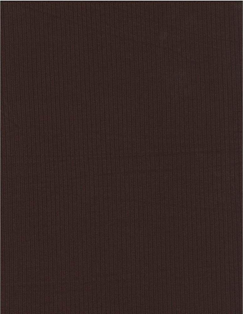 SP-2601 / DARK CHOCOLATE / 93%Poly 7%Span Brushed Dty 4X2 Rib